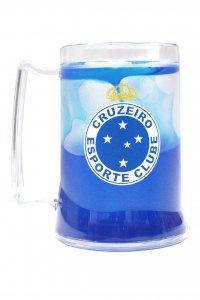 Caneca Gel Azul 400ml Escudo do Cruzeiro