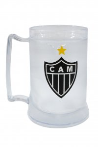 Caneca Gel Incolor 400ml Escudo do Atlético