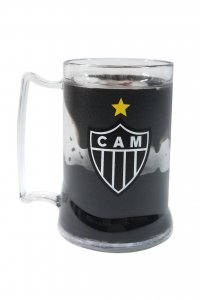 Caneca Gel Preto 400ml Escudo do Atlético Mineiro