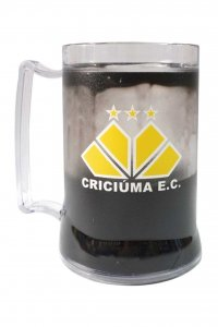 Caneca Gel Preto 400ml Escudo do Criciúma