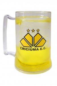 Caneca Gel Amarelo 400ml do Criciúma