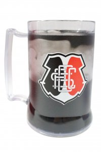 Caneca Gel Preto 400ml Escudo do Santa Cruz