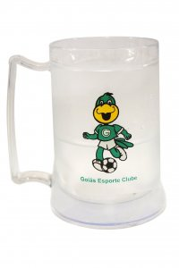 Caneca Gel Incolor 400ml Mascote do Goiás