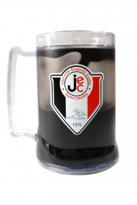 Caneca Gel Preto 400ml Escudo e Mascote do Joinville