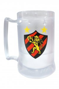 Caneca Gel Incolor 400ml Escudo do Sport