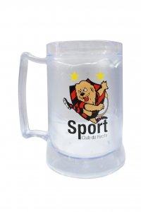 Caneca Gel Incolor 400ml Mascote do Sport