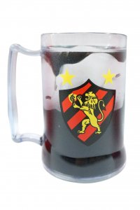 Caneca Gel Preto 400ml Escudo do Sport