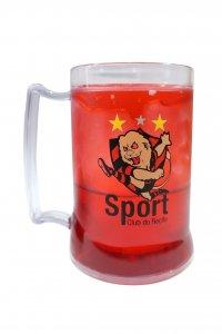 Caneca Gel Vermelho 400ml Mascote do Sport
