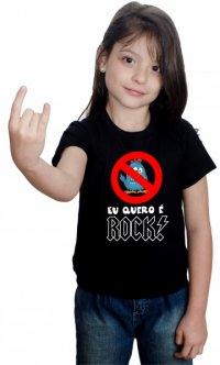 Camiseta Infantil Eu Quero é Rock